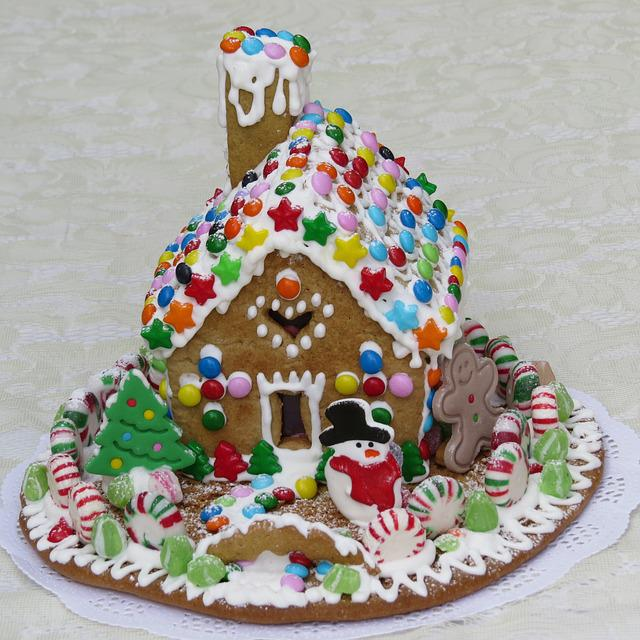 Gingerbread House, Pastry, Decoration, Christmas