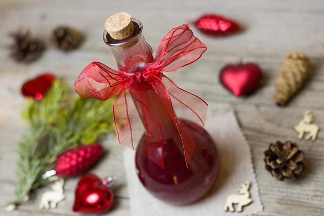 Vinegar, Pomegranate, Gift, Christmas, Glass