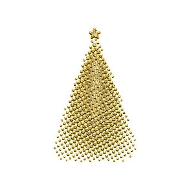 Ornament, Decor, Golden, Christmas, Jewelry