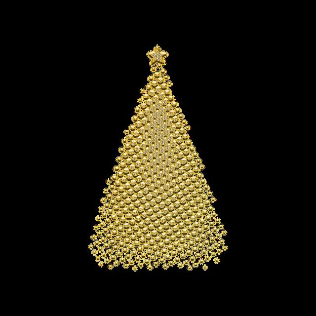 Ornament, Decor, Golden, Christmas, Jewelry