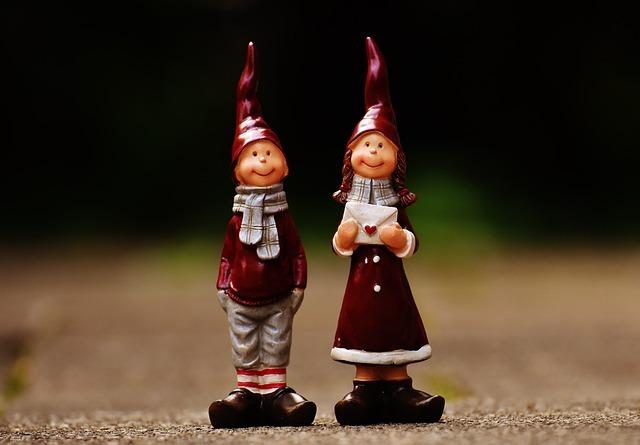 Figures, Heart, Funny, Winter, Christmas, Deco