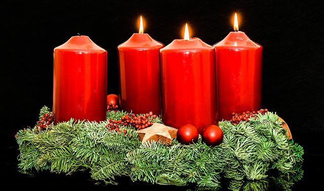 Advent Wreath, Advent, Christmas Jewelry, Candles