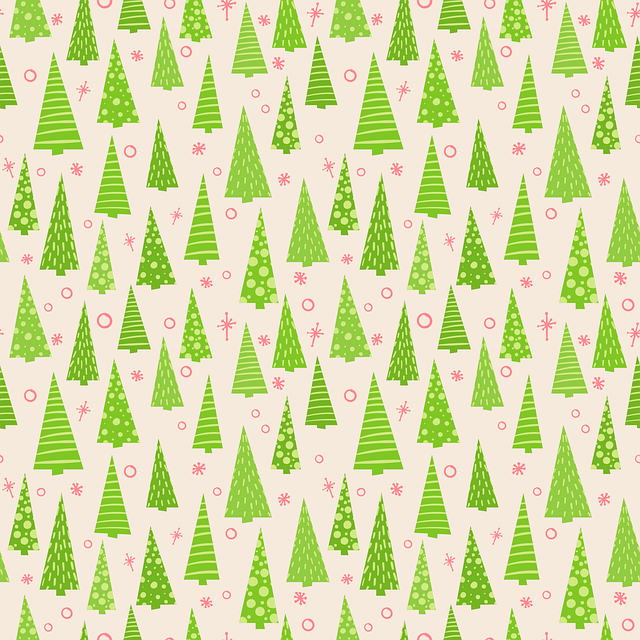 Christmas, New Year's Eve, Template, Vector, Seamless