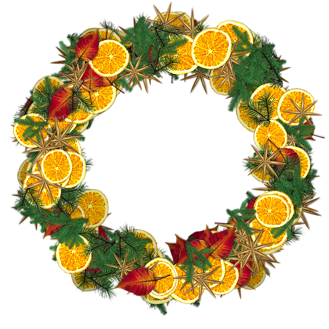 Crown, Christmas, Festival, Png, Clipping, Orange