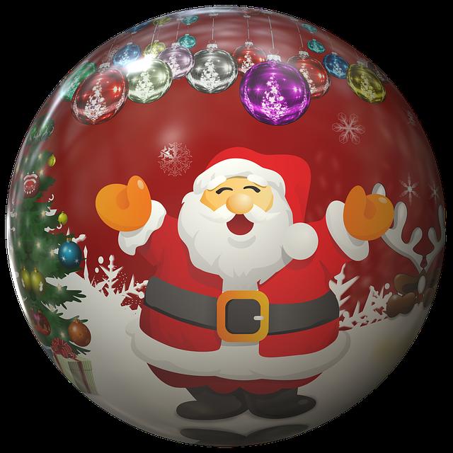 Nicholas, Santa Claus, Ball, Christmas Ornaments