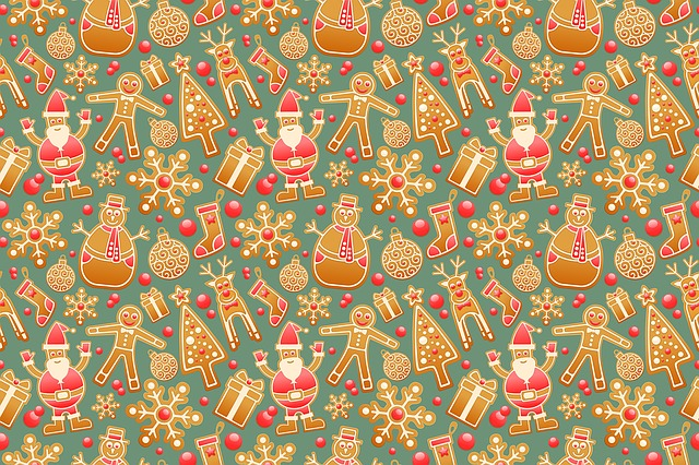 Pattern, Seamless, Gingerbread, Christmas, Decorative