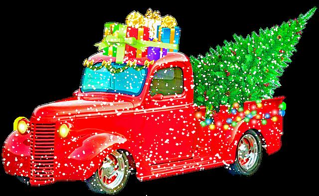 Christmas Pick Up Truck, Christmas Tree