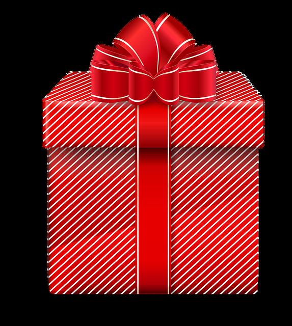 Gift, Red Gift, Christmas Gift, Christmas, Holidays