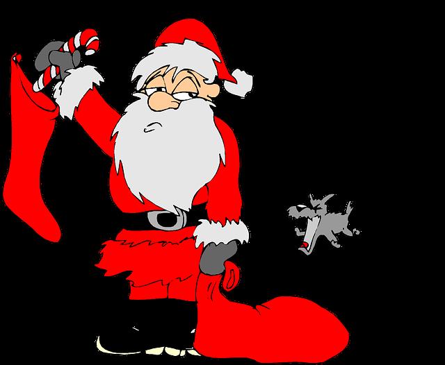 Christmas, Holiday, Clip Art, List, Dog, Santa, Red
