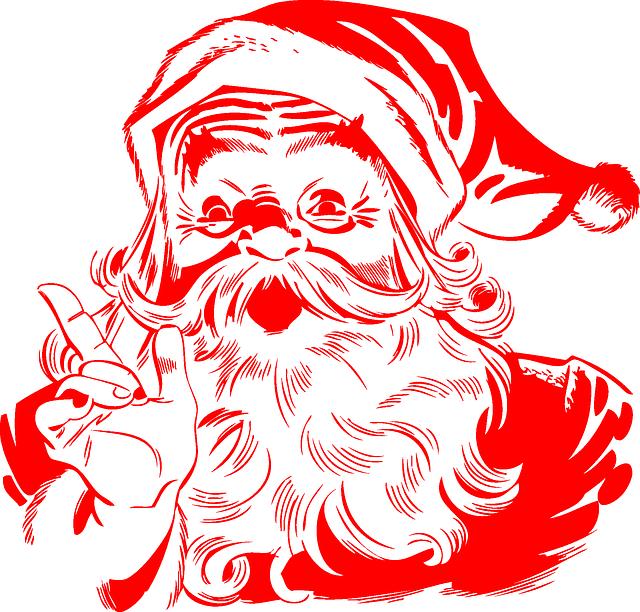 Santa Claus, Red, Christmas, Santa, X-mas, Bearded