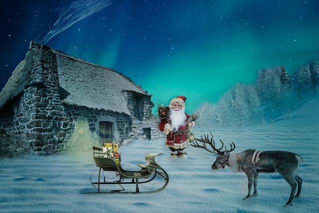 Christmas, Christmas Motif, Santa Claus, Home, Reindeer