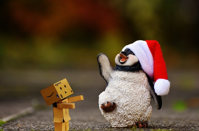 Penguin, Fig, Christmas, Santa Hat, Decoration, Funny
