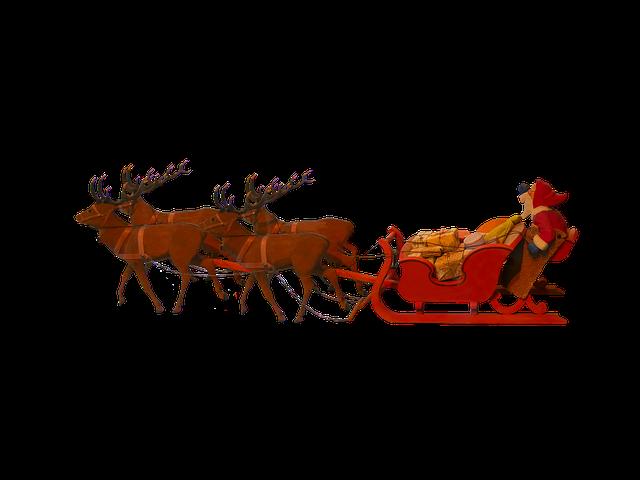 Christmas, Santa Claus, Christmas Sleigh, Gifts