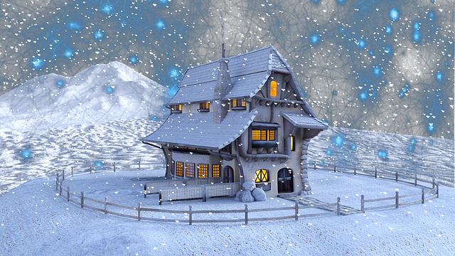 Christmas, Winter, Home, Snow, Landscape, Snowflakes
