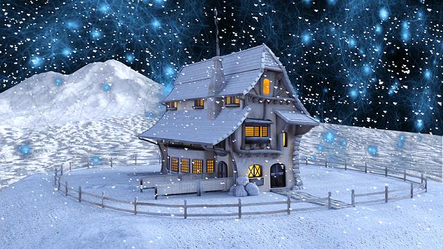 Christmas, Winter, Home, Snow, Landscape, Snowflakes