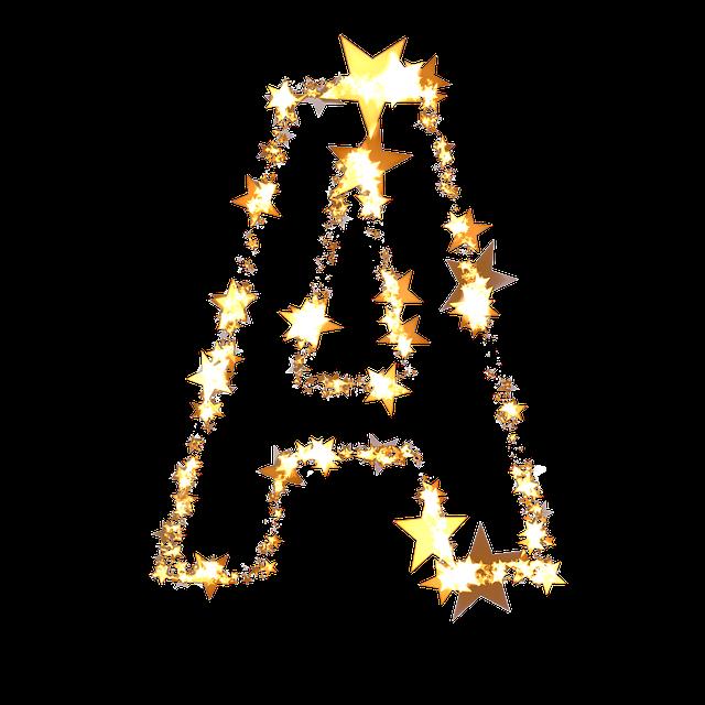 Letter, A, Abc, Star, Christmas, Christmas Alphabet