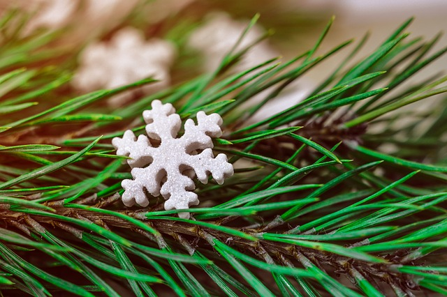 Christmas, Background, Snowflake, Star, Decoration