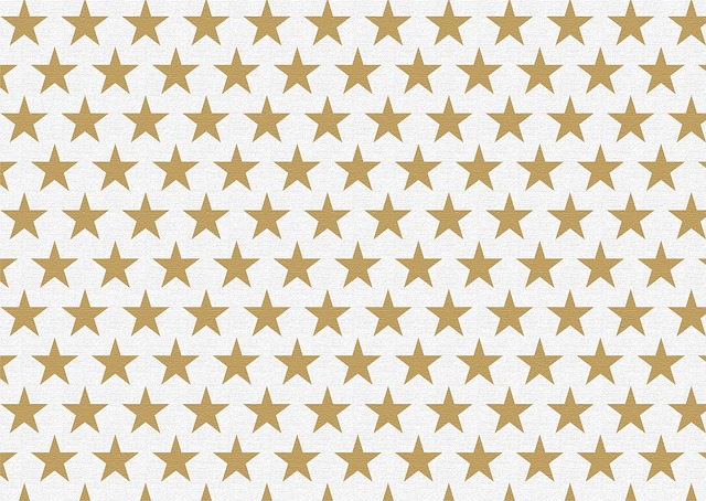 Star, Background, Gold, White, Christmas, Advent