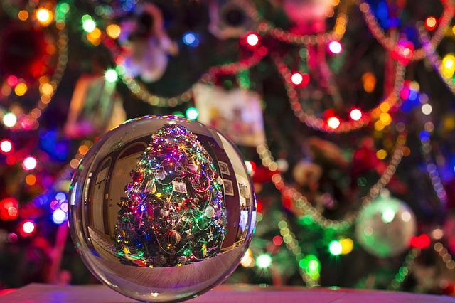 Christmas, Crystal Ball, Christmas Tree, Bulb