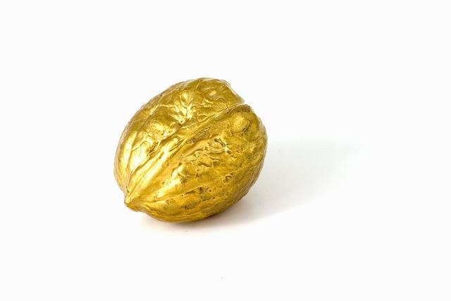 Gold, Nut, Walnut, Christmas, Decoration, Wealth