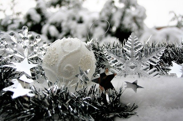 Winter, Asterisk, Christmas, Ice, The Background, Card