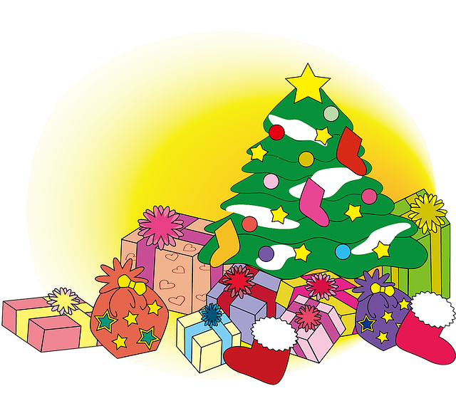 Christmas, Winter, Tree, Gift