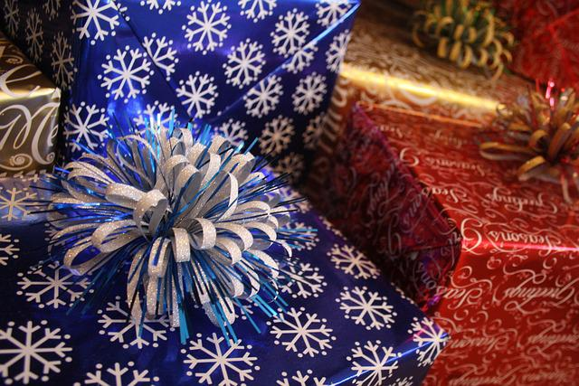 Christmas, Gift, Wrap, Ribbons, Present, Holiday