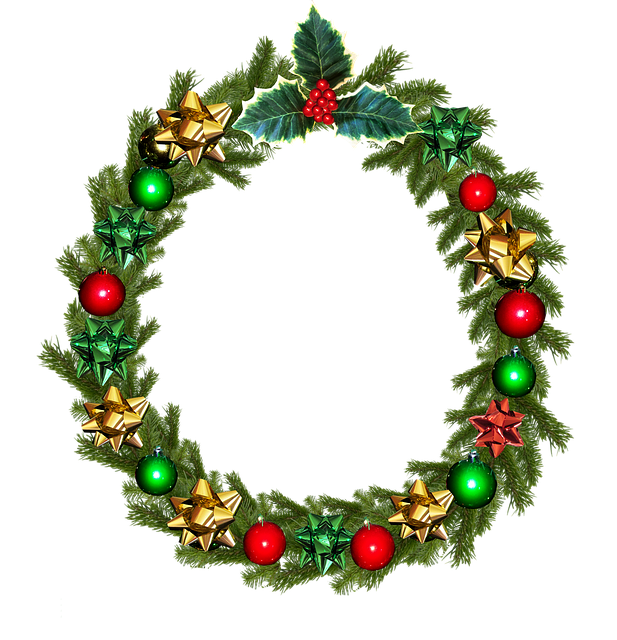 Christmas, Wreath, Holly, Decoration