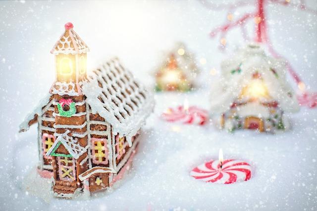Gingerbread House, Village, Christmas, Xmas, Winter