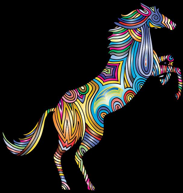 Horse, Animal, Colorful, Prismatic, Chromatic, Rainbow