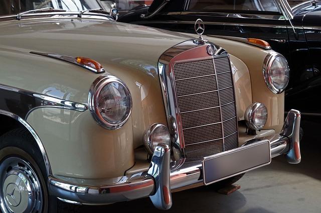 Auto, Mercedes, Grille, Spotlight, Chrome, Vehicle