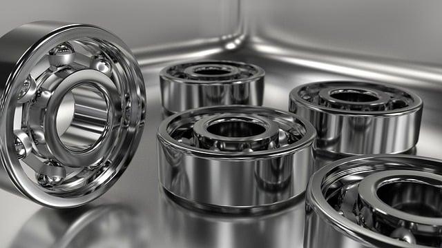 Bearing, Steel, Chrome, Metallic, Machine-part
