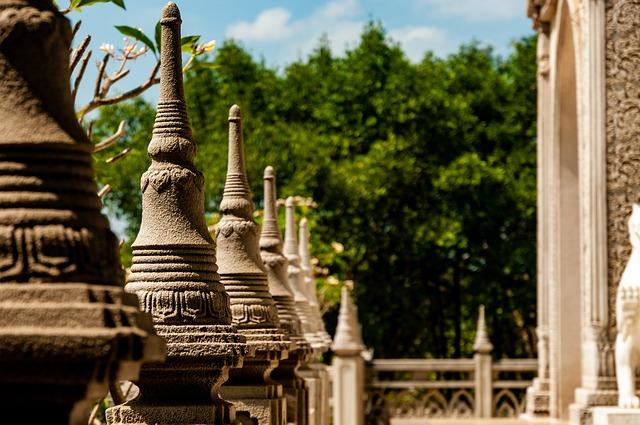 Pagoda, Temple, Buddha, Chua Buu Long, Landscape