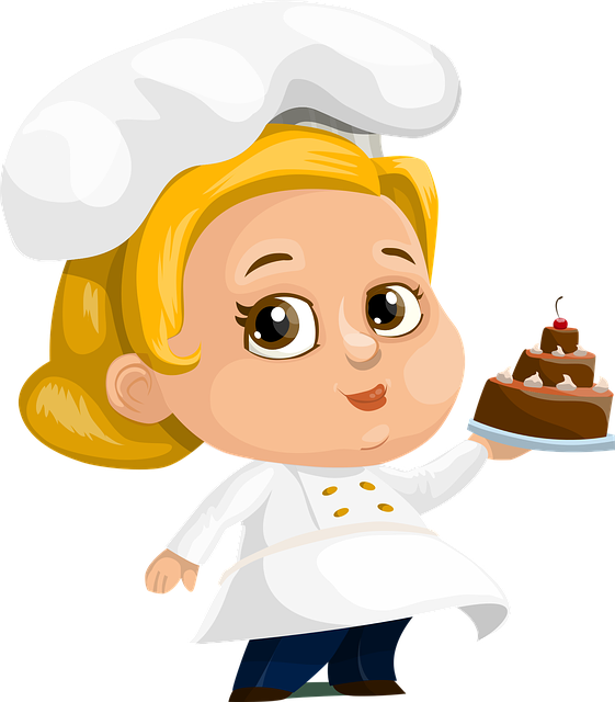 Chef, Cake, Woman, Lady, Female, Chubby, Hat, Dressed