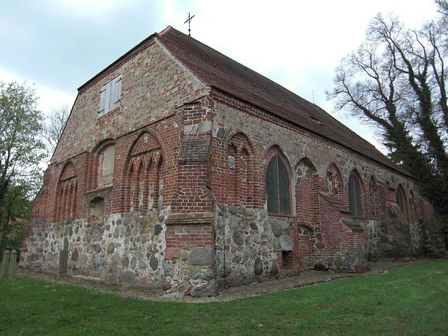 Usedom, Church, Village, Old, Architecture