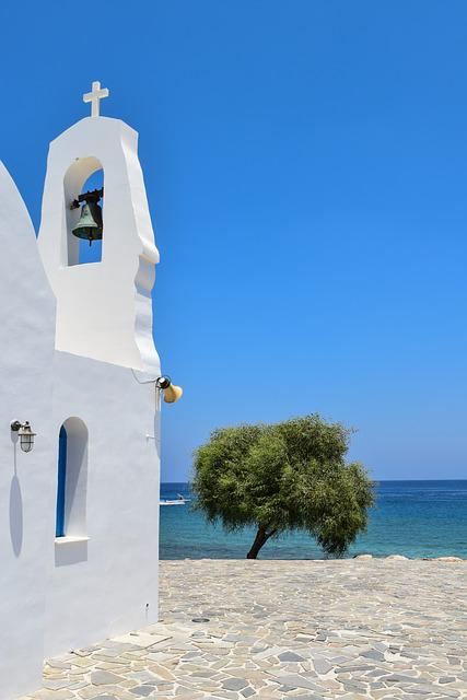 Cyprus, Protaras, Ayios Nikolaos, Belfry, Church
