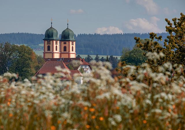 Church, Church Steeples, Baroque Monastery Church