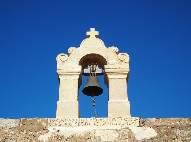 Bell, Greece, Church Bell, Faith, Christianity, Cross