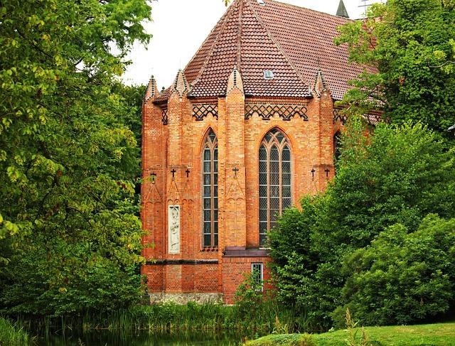 Church, Brick, Building, Ludwigslust-parchim