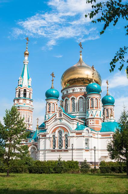 Architecture, Orthodox, Church, Cathedral, Dome, Omsk