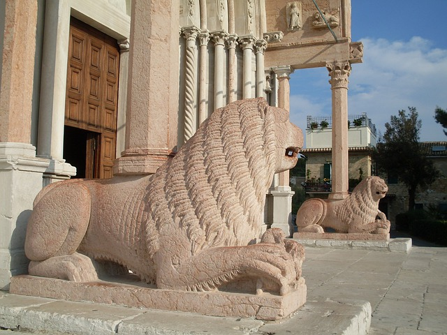 Ancona, Italy, Cathedral, Church, Sculpture