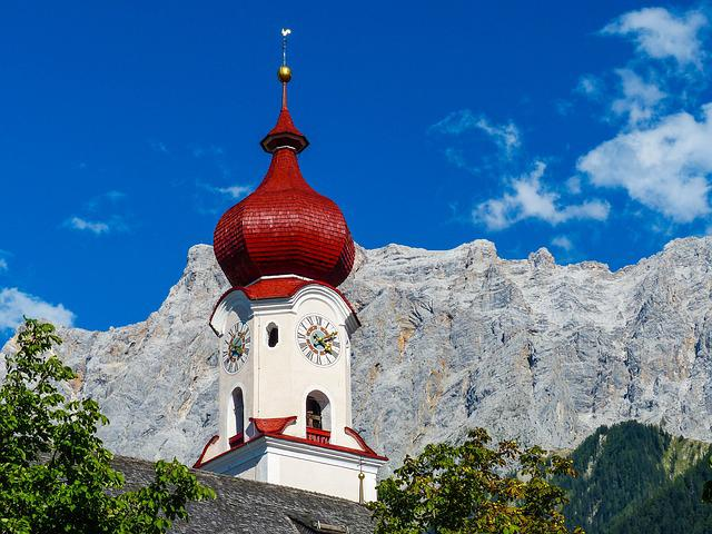 Parish Church To The Hl, Catherine, Church, Ehrwald