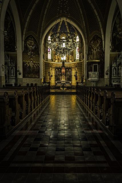 Church Interior, Church, Bled, Slovenia