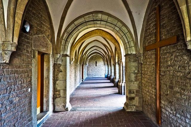 Church, Cloister, Architecture, Monastery