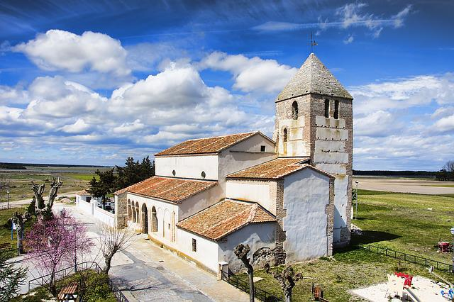 Church, Clouds, Sky, Spain, Landscape, Temple, Religion
