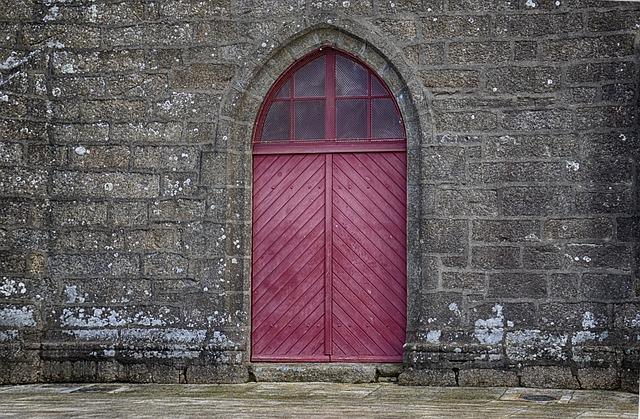 Door, Church, Church Door, Wood, Colors, Former, City
