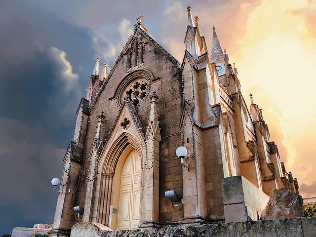Gozo, Church, Lourdes, Catholic, Europe, Architecture