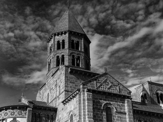 Puy-de-dome, Church, Building, Faith, Religion, Tower