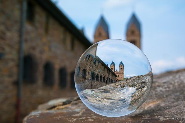 Glass Ball, Monastery, Ball, Church, Abbey