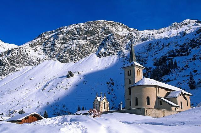 Snow, Winter, Mountain, Cold, Mountain Peak, Church
